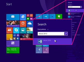 Comment trouver des applications Microsoft Office sur Windows 8.1, 8 ou 7