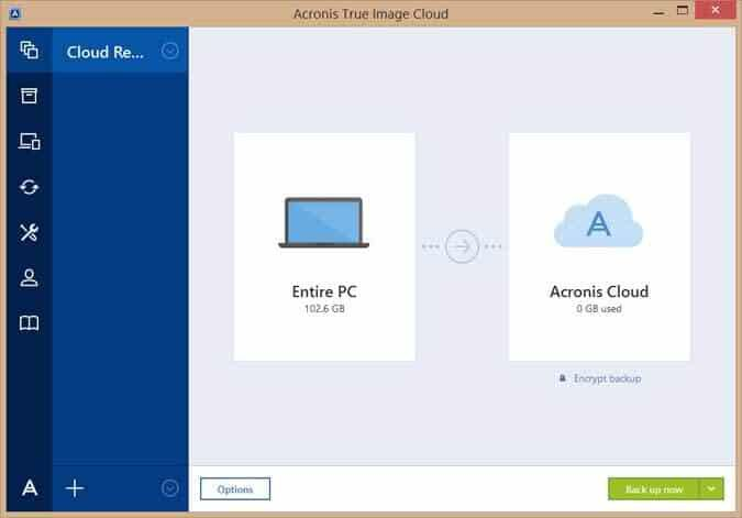 Examen d'Acronis True Image Cloud